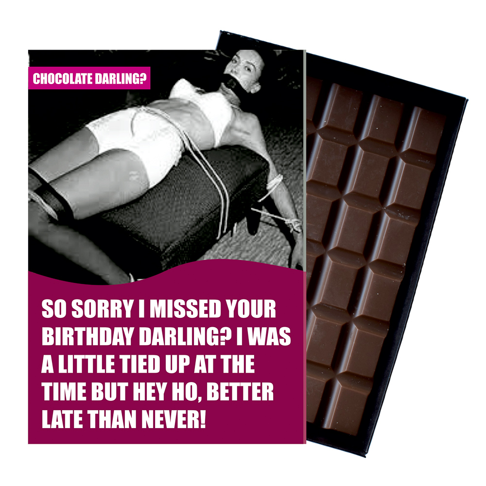 Funny Belated Birthday Gift For Men Or Women Boxed Chocolate Greeting Card Present Cdl126 Life S Wicked
