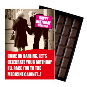 Funny Birthday Gift For Wife Husband Friend Older Pensioner 85 Gram Rude Boxed Chocolate Greetings Card Present Him Or Her