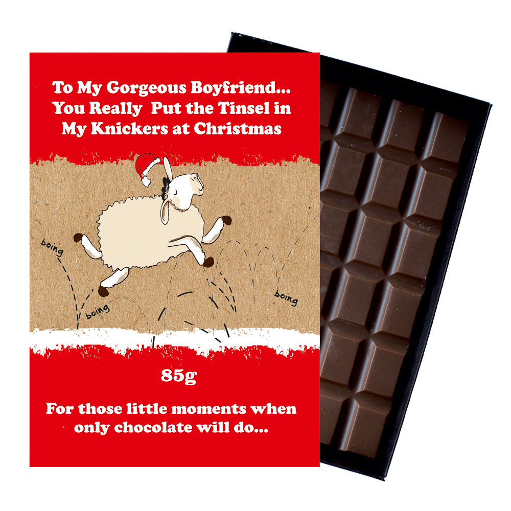 Funny Christmas Gifts For Boyfriend.Funny Christmas Gift For Boyfriend Girlfriend Boxed Chocolate Xmas Present For Him Or Her Xms118
